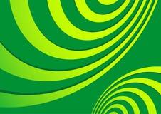 абстрактные зеленые спирали Стоковая Фотография RF