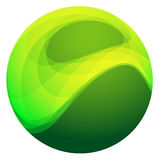 абстрактные зеленые сферы Стоковые Изображения