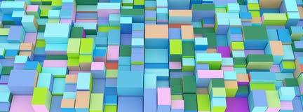 Абстрактные земные коробки, кубы иллюстрация штока