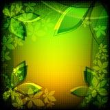 Абстрактные зеленые цветки Стоковые Фотографии RF