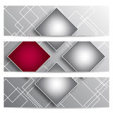 Абстрактные знамена вектора с квадратами Стоковые Изображения