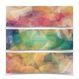 Абстрактные знамена с современным триангулярным полигональным PA иллюстрация штока