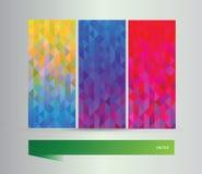 Абстрактные знамена треугольника Стоковое Изображение
