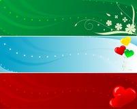 абстрактные знамена цветастые Стоковые Фотографии RF