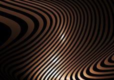 абстрактные золотистые striped волны Стоковые Изображения