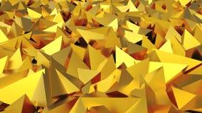 Абстрактные золотые пирамиды 3D Стоковая Фотография