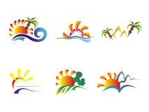 абстрактные иконы больше пожалуйста см. лето к v Стоковые Фото