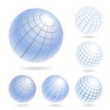 абстрактные иконы глобуса установили Стоковое Изображение