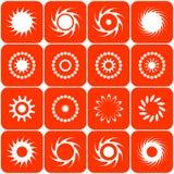 абстрактные иконы греют на солнце вектор Стоковое Изображение RF