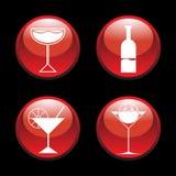абстрактные иконы коктеила Стоковые Изображения