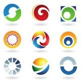 абстрактные иконы помечают буквами o Стоковое Изображение RF