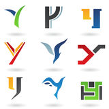 абстрактные иконы помечают буквами y Стоковые Изображения RF
