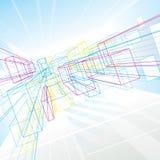 Абстрактные линии перспективы Стоковые Фотографии RF