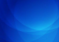 Абстрактные линии свет вектора - голубая предпосылка Стоковые Изображения RF