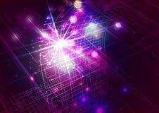 Абстрактные линии с светлой красочной предпосылкой Стоковое Фото
