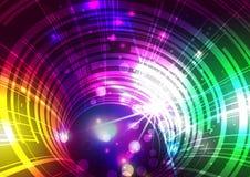 Абстрактные линии с светлой предпосылкой вектора Стоковые Фото