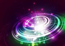 Абстрактные линии с светлой предпосылкой вектора Стоковое Фото