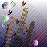 Абстрактные информационные технологии тайнописи infographic развилки бесплатная иллюстрация