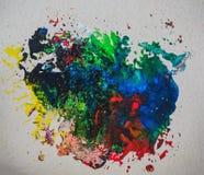Абстрактные искусства картины текстуры предпосылки цвета воды щетки Стоковая Фотография