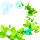 абстрактные листья зеленого цвета предпосылки Иллюстрация штока