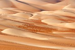 Абстрактные картины дюны в пустом квартале Стоковое Фото