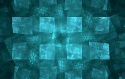 абстрактные квадраты голубого зеленого цвета Стоковое Изображение