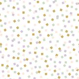 абстрактные квадраты картины иллюстрации digitall Точный орнамент с красочными квадратными элементами Стоковые Фотографии RF