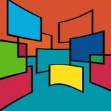 Абстрактные квадраты предпосылки Бесплатная Иллюстрация