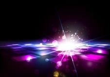Абстрактные квадраты с светлой предпосылкой Стоковое Изображение RF