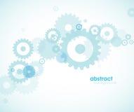 абстрактные колеса сини предпосылки иллюстрация вектора