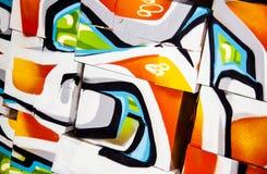 Абстрактные коробки надписи на стенах Стоковые Изображения RF