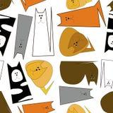 Абстрактные котята других цветов на белой предпосылке картина безшовная сердитой бесплатная иллюстрация