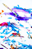 Абстрактные краска и paintbrush Стоковые Фото
