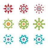 Абстрактные красные зеленые голубые установленные логотипы значка дизайна Стоковые Фотографии RF