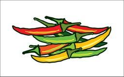 Абстрактные красные и зеленые чили бесплатная иллюстрация