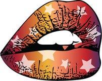 Абстрактные красочные губы женщины бесплатная иллюстрация