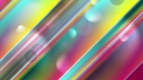 Абстрактные красочные нашивки и анимация bokeh видео- иллюстрация вектора