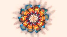 Абстрактные красочные цветки диско танца Высоко детальный видеоматериал