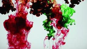Абстрактные красочные чернила в Underwater акции видеоматериалы