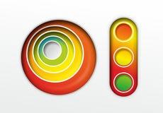 Абстрактные красочные элементы Стоковое фото RF