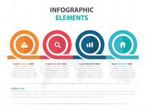 Абстрактные красочные элементы Infographics временной последовательности по дела круга, иллюстрация вектора дизайна шаблона предс иллюстрация вектора