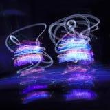 Абстрактные кривые freezelight светлая картина Стоковые Изображения RF