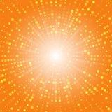 абстрактные круги Влияние полутонового изображения абстрактная поставленная точки предпосылка 3d представила место V иллюстрация вектора