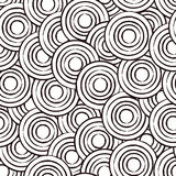 абстрактные круги конструируют вектор картины безшовный Стоковое Изображение RF