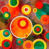 Абстрактные круги Grunge Стоковые Изображения