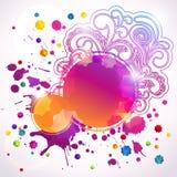 Абстрактные круглые знамена (цифровое искусство) Стоковые Изображения RF