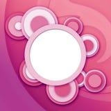 абстрактные круговые розовые окна Стоковые Изображения RF