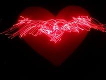 Абстрактные крыла сердца Стоковые Фотографии RF