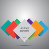 абстрактные кубики предпосылки Вектор Eps10 Стоковое Фото