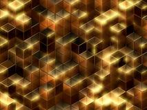 абстрактные кубики предпосылки 3d Стоковые Фотографии RF
